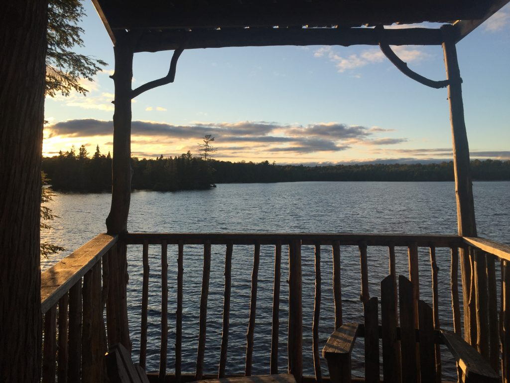 View of a lake from a cabin