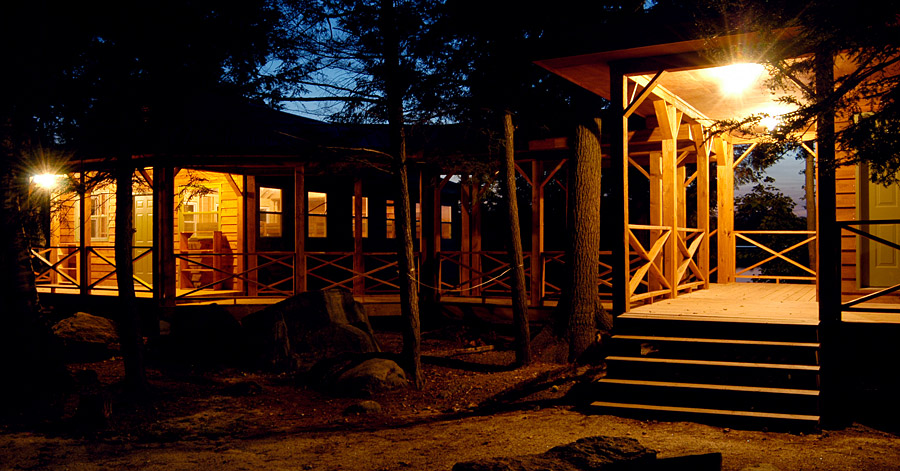 Kiwi Cabins at Night